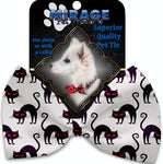 Purple Kittie Pet Bow Tie Collar Accessory With Velcro - staygoldendoodle.com