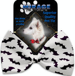 Purple Bats Pet Bow Tie Collar Accessory With Velcro - staygoldendoodle.com
