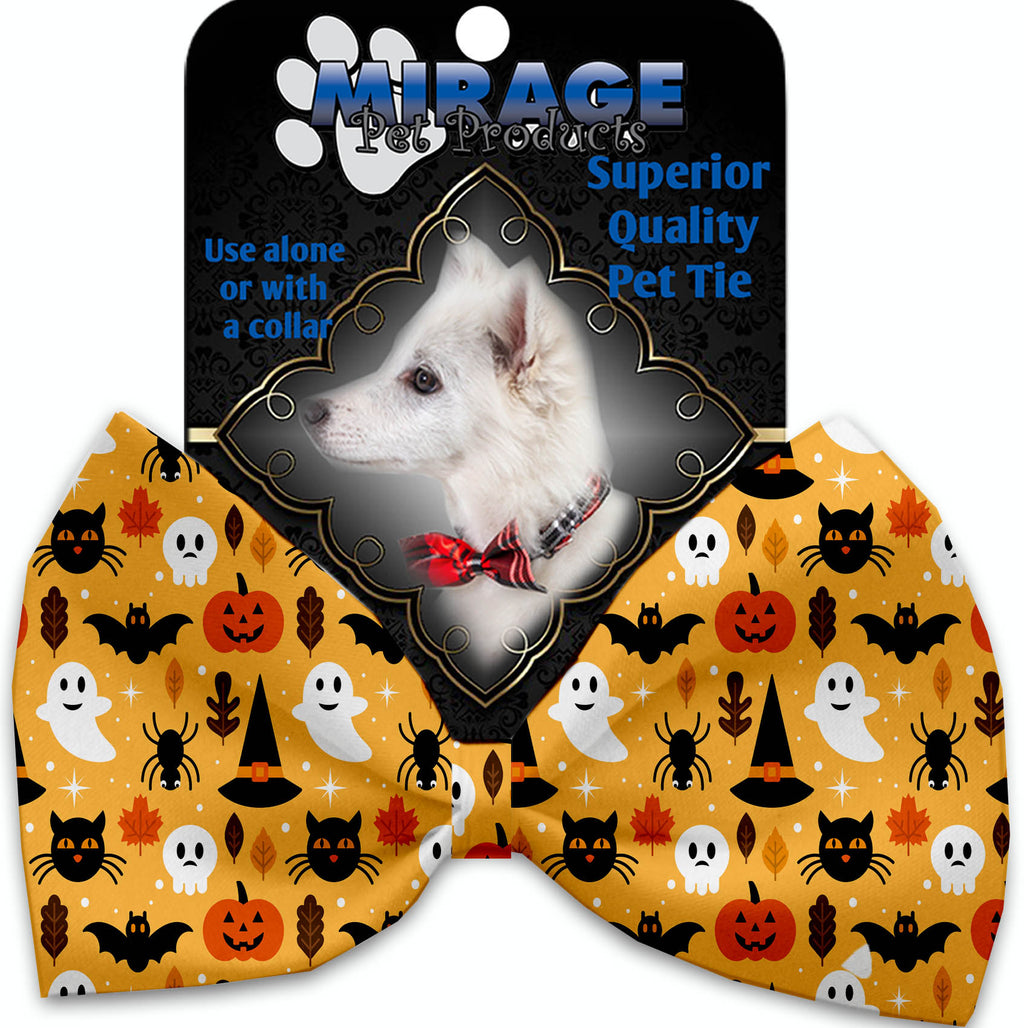 Happy Halloween Pet Bow Tie Collar Accessory With Velcro - staygoldendoodle.com