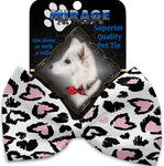 Pink Leopard Hearts Pet Bow Tie Collar Accessory With Velcro - staygoldendoodle.com