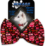 Valentines Day Bears Pet Bow Tie Collar Accessory With Velcro - staygoldendoodle.com