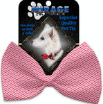 Valentines Day Chevron Pet Bow Tie Collar Accessory With Velcro - staygoldendoodle.com