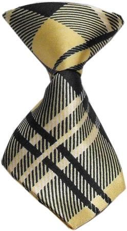 Dog Neck Tie Plaid Cream - staygoldendoodle.com