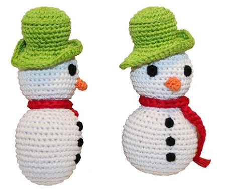 Holiday Knit Knack Frost The Snowman Organic Small Dog Toy - staygoldendoodle.com
