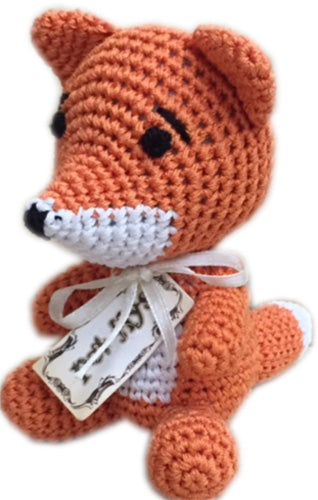 Knit Knacks Kit The Fox Organic Cotton Small Dog Toy - staygoldendoodle.com