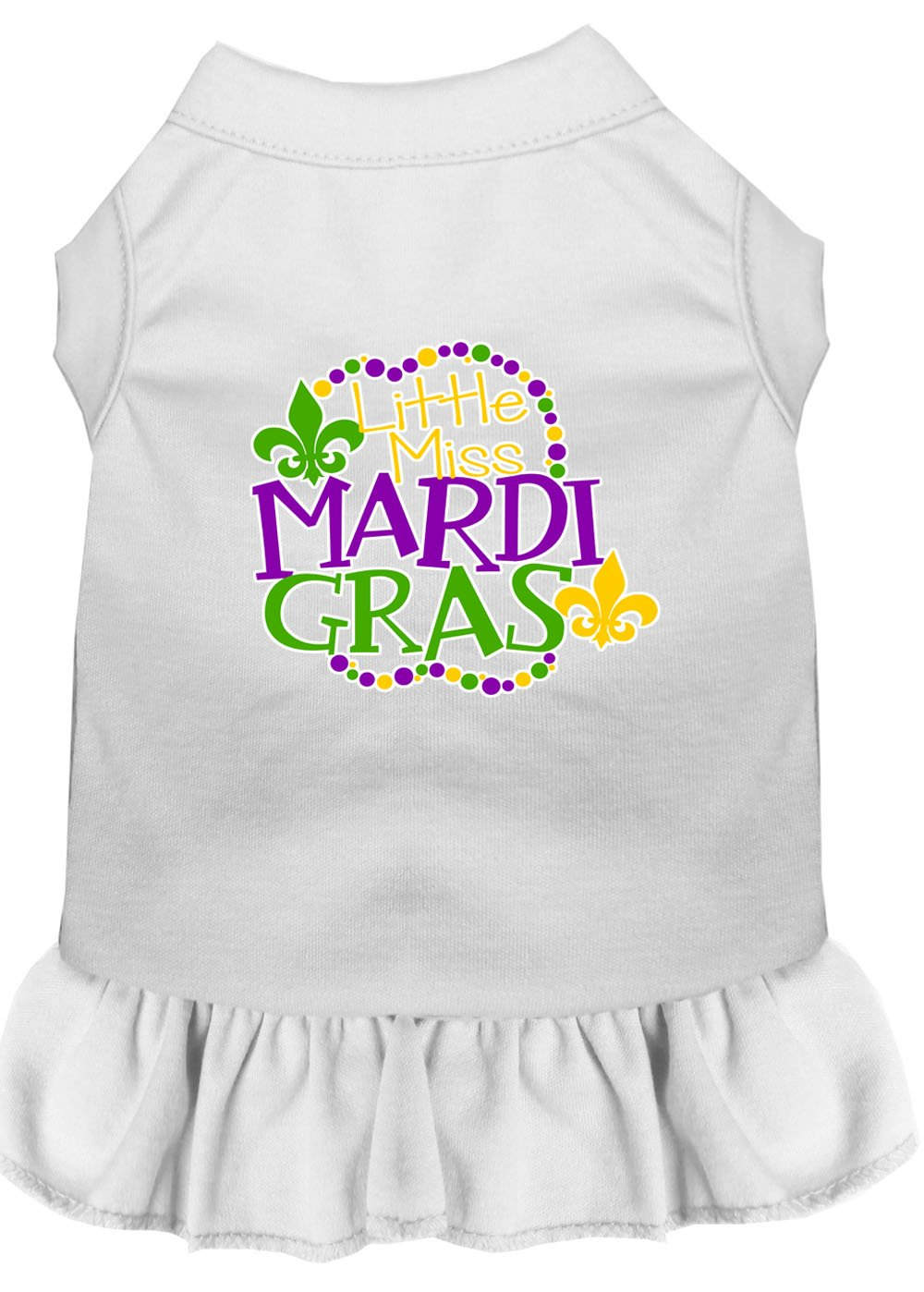 Miss Mardi Gras Screen Print Mardi Gras Dog Dress Baby - staygoldendoodle.com