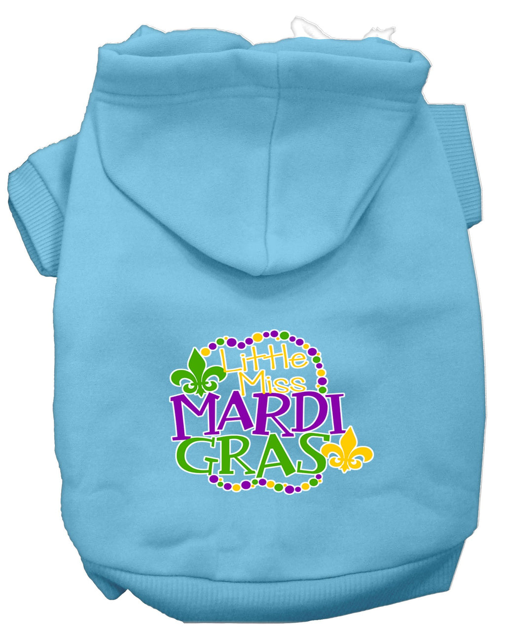 Miss Mardi Gras Screen Print Mardi Gras Dog Hoodie Baby - staygoldendoodle.com