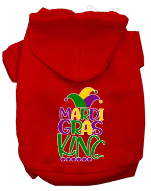 Mardi Gras King Screen Print Mardi Gras Dog Hoodie - staygoldendoodle.com