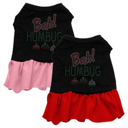 Bah Humbug Rhinestone Ruffle Dress