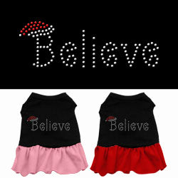Believe Rhinestone Ruffle Dress