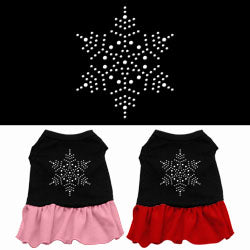 Snowflake Rhinestone Ruffle Dress