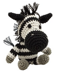 Knit Knacks Zsa Zsa the Zebra Organic Cotton Small Dog Toy