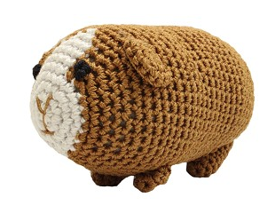 Knit Knacks Goober the Guinea Pig Organic Cotton Small Dog Toy