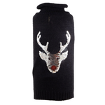 Pre-Order (Late September Delivery) Reversible Sequin Reindeer Roll-neck Sweater