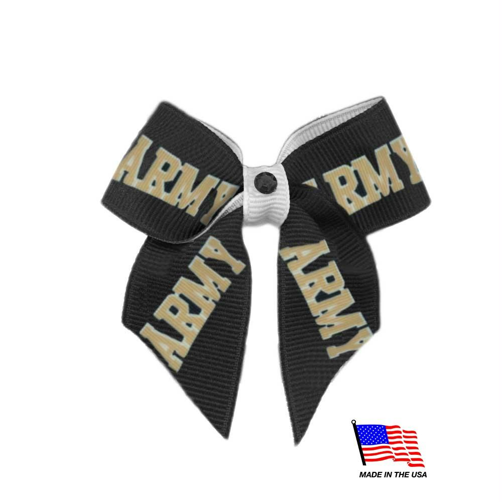 Army Black Knights Pet Hair Bow - staygoldendoodle.com