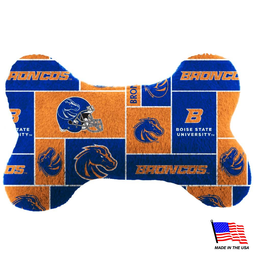 Boise State Plush Bone Toy - staygoldendoodle.com