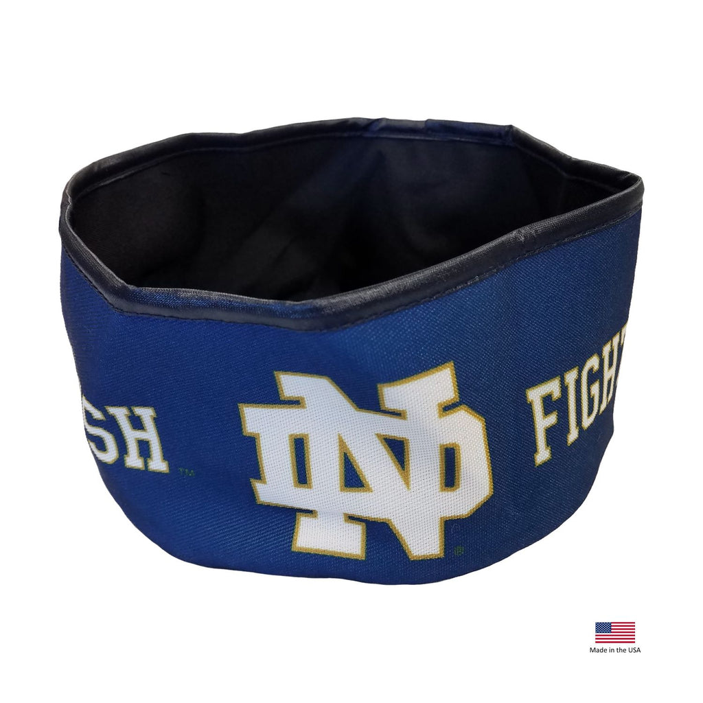 Notre Dame Fighting Irish Collapsible Pet Bowl