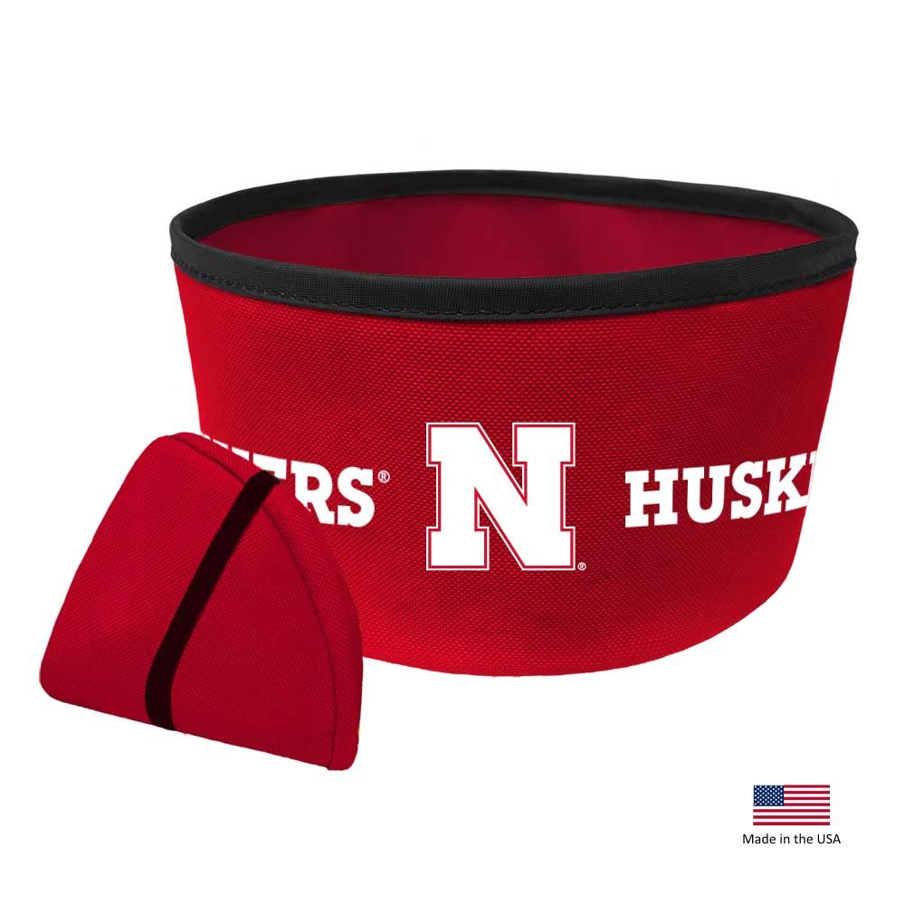 Nebraska Huskers Collapsible Pet Bowl