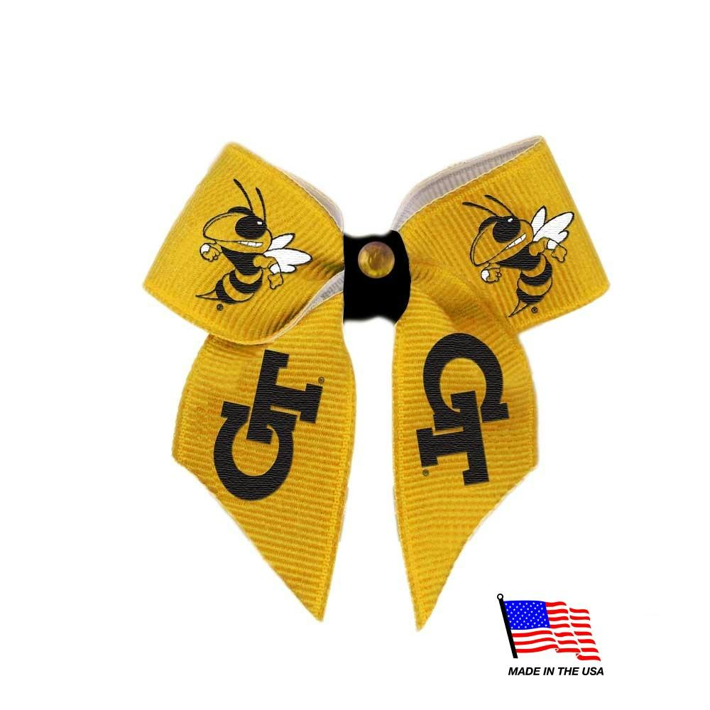 Georgia Tech Pet Hair Bow - staygoldendoodle.com
