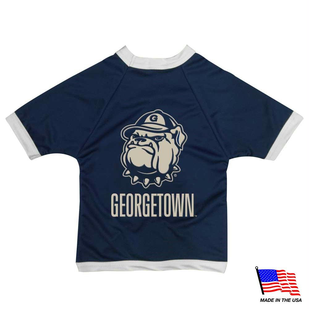 Georgetown Hoyas Athletic Mesh Pet Jersey - staygoldendoodle.com