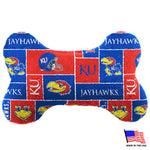 Kansas Jayhawks Plush Bone Toy - staygoldendoodle.com