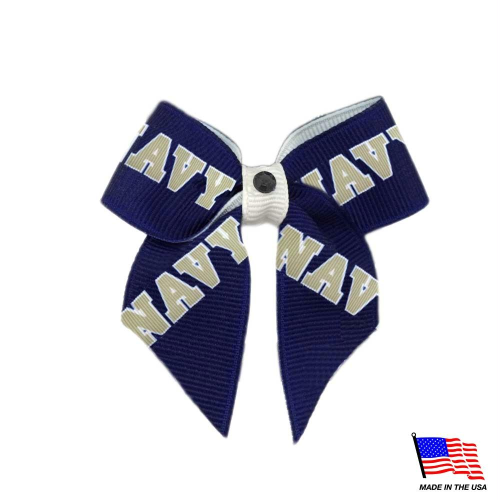 Navy Midshipmen Pet Hair Bow - staygoldendoodle.com