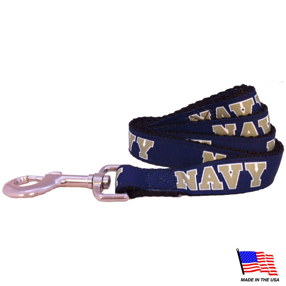 Navy Midshipmen Pet Leash - staygoldendoodle.com