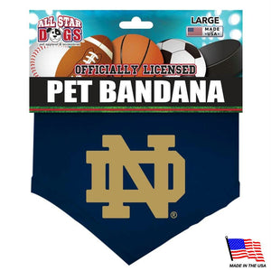 Notre Dame Fighting Irish Pet Bandana - staygoldendoodle.com