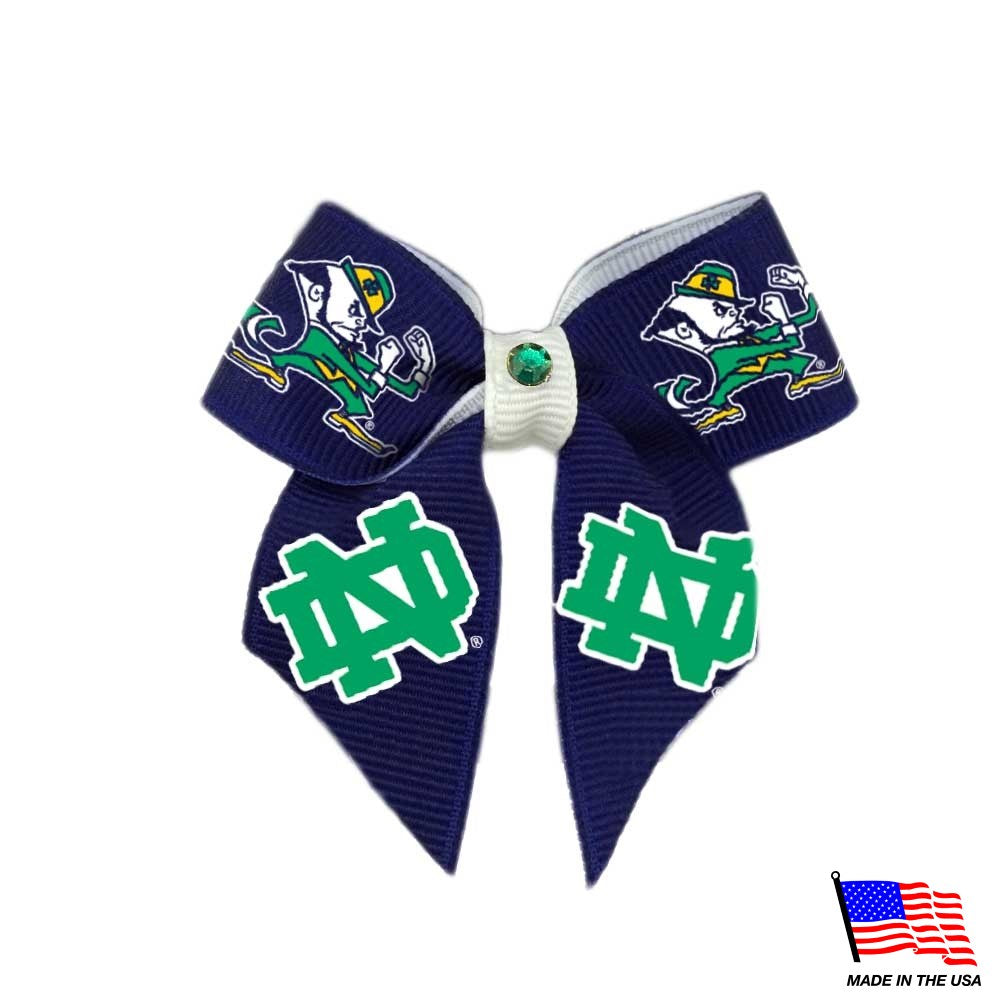 Notre Dame Leprechaun Pet Hair Bow - staygoldendoodle.com