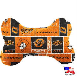 Oklahoma State Plush Bone Toy - staygoldendoodle.com