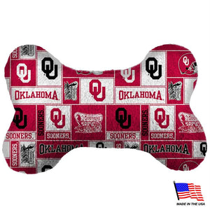Oklahoma Sooners Plush Bone Toy - staygoldendoodle.com
