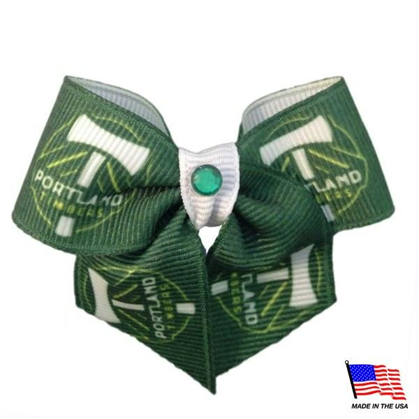Portland Timbers Pet Hair Bow - staygoldendoodle.com