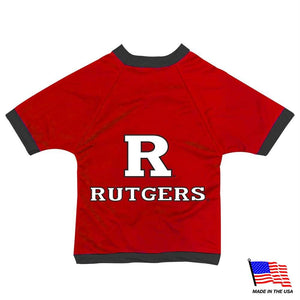 Rutgers Scarlet Knights Athletic Mesh Pet Jersey - staygoldendoodle.com