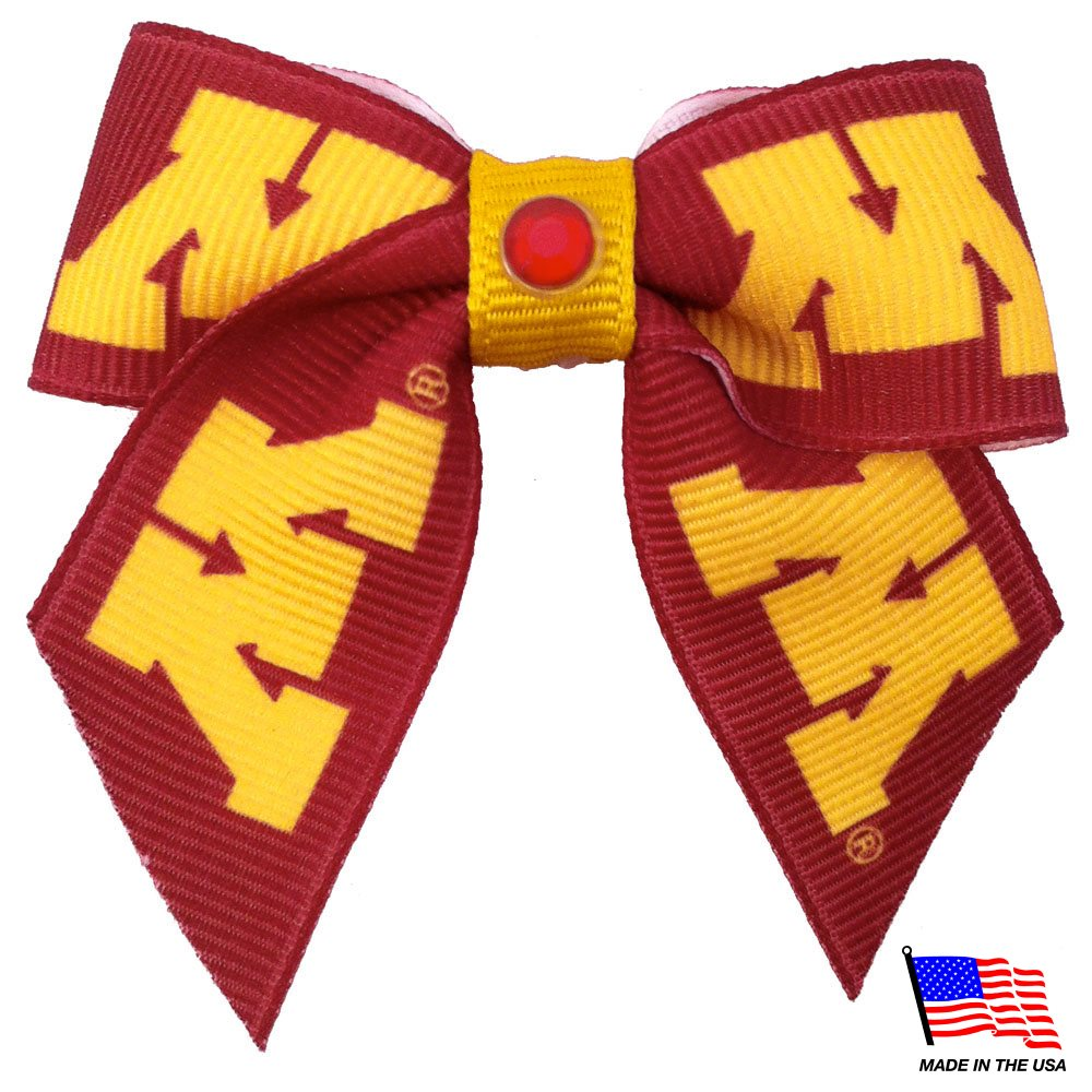 Minnesota Golden Gophers Pet Hair Bow - staygoldendoodle.com