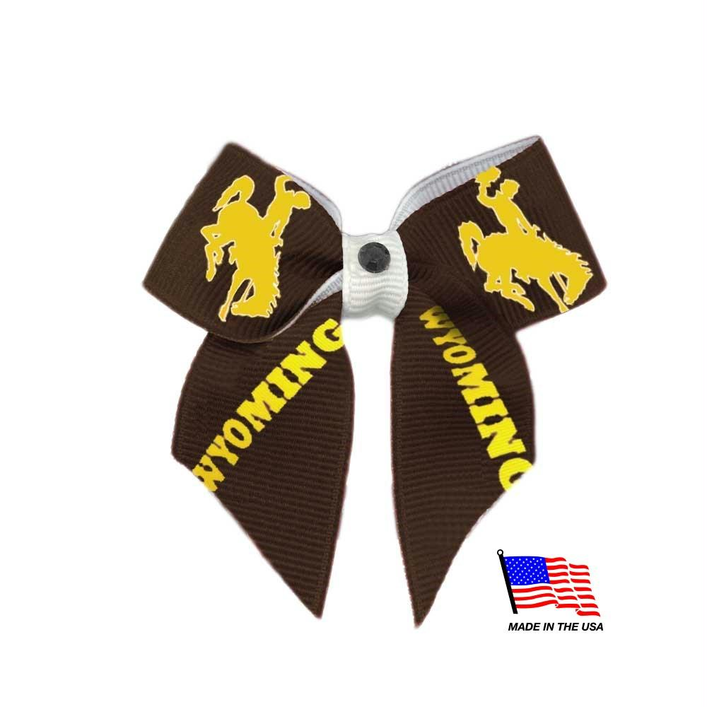 Wyoming Cowboys Pet Hair Bow - staygoldendoodle.com