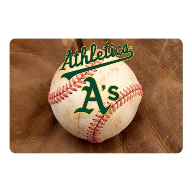 Oakland A's Pet Bowl Mat - staygoldendoodle.com