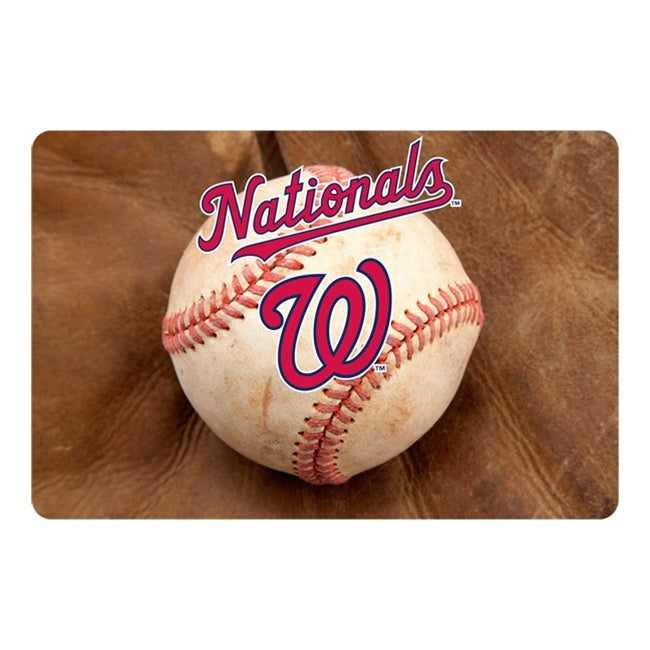 Washington Nationals Pet Bowl Mat - staygoldendoodle.com