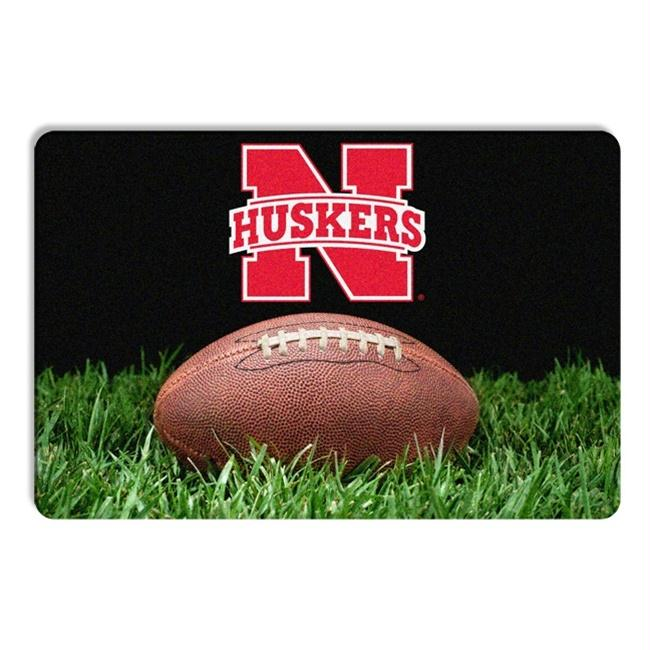 Nebraska Huskers Classic Football Pet Bowl Mat - staygoldendoodle.com