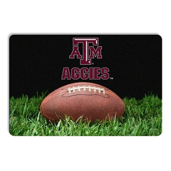 Texas A&M Aggies Classic Football Pet Bowl Mat - staygoldendoodle.com