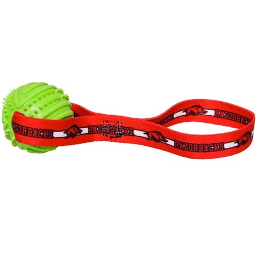 Arkansas Razorbacks Rubber Ball Toss Toy - staygoldendoodle.com