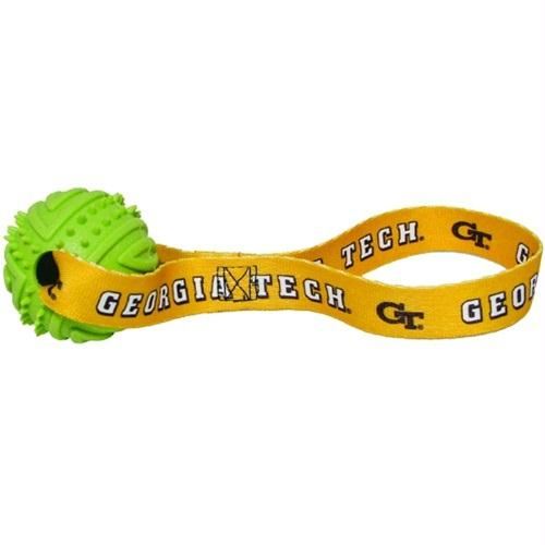 Georgia Tech Rubber Ball Toss Toy - staygoldendoodle.com