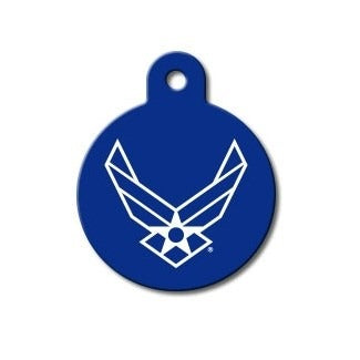 US Air Force Large Circle ID Tag - staygoldendoodle.com
