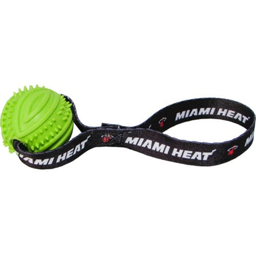 Miami Heat Rubber Ball Toss Toy - staygoldendoodle.com