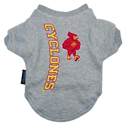Iowa State Heather Grey Pet T-Shirt - staygoldendoodle.com