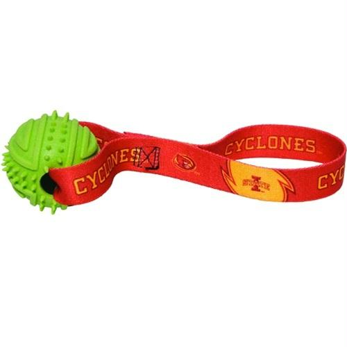 Iowa State Cyclones Rubber Ball Toss Toy - staygoldendoodle.com