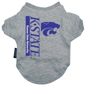 Kansas State Wildcats Heather Grey Pet T-Shirt - staygoldendoodle.com