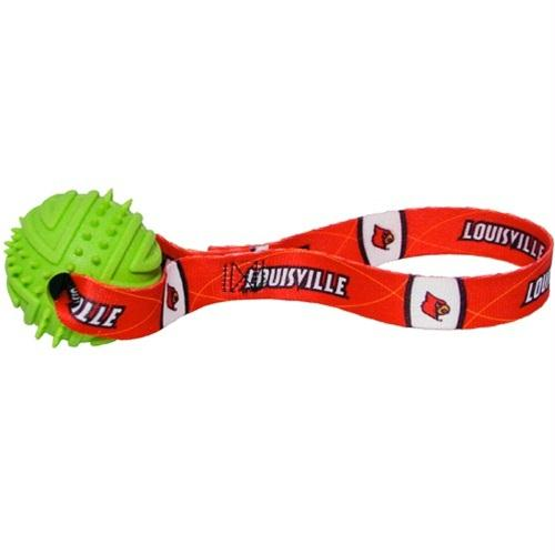 Louisville Cardinals Rubber Ball Toss Toy - staygoldendoodle.com