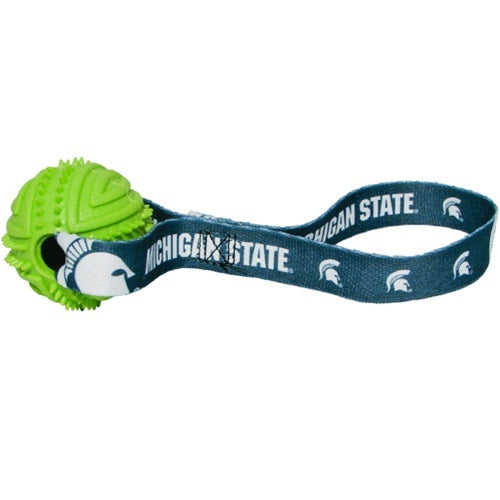 Michigan State Rubber Ball Toss Toy - staygoldendoodle.com