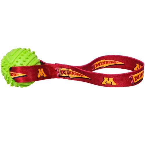 Minnesota Golden Gophers Rubber Ball Toss Toy - staygoldendoodle.com