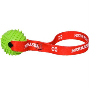 Nebraska Huskers Rubber Ball Toss Toy - staygoldendoodle.com